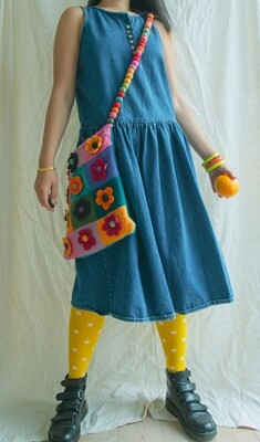Denim retro dress