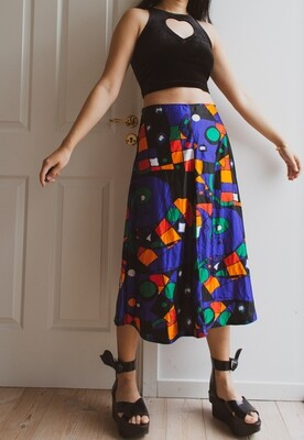 70s retro shortened skirt M