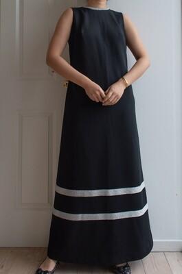 Black and silver retro gala dress M/L