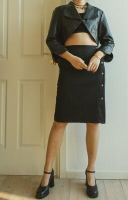 Leather short jacket M