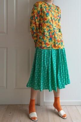 Retro orange blouse L