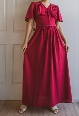 Wine red maxi dress M/L