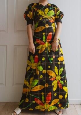 The 70S/80S maxi flower dress M