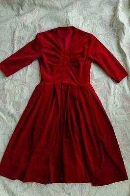 Red velvet dress S/XS