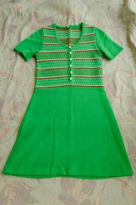Green knit dress S
