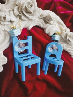 Toy chair earrings/clips 6cm