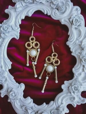 Statement earrings/clips 12cm