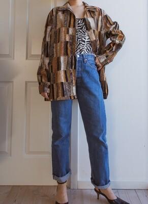 The 70s color-block blouse L/oversize
