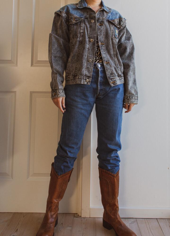 Denim jacket&vest L