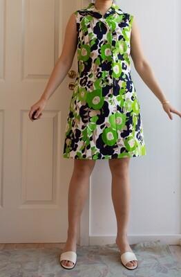 Green retro dress M/L