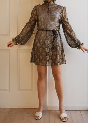 See-through retro dress M