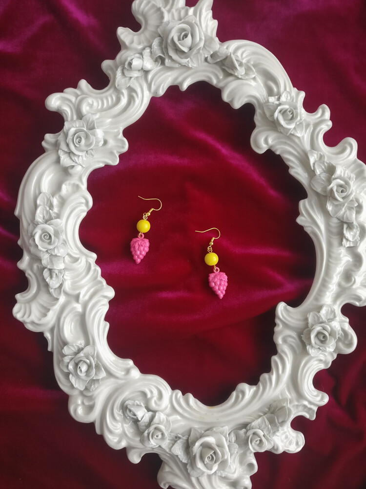 Grape redesign earrings