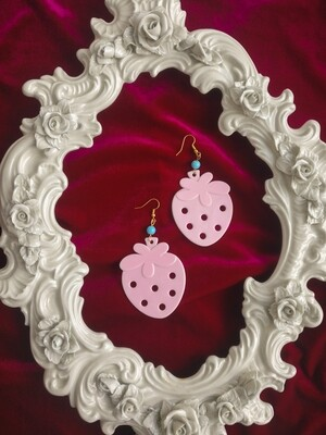 Strawberry toy earrings L