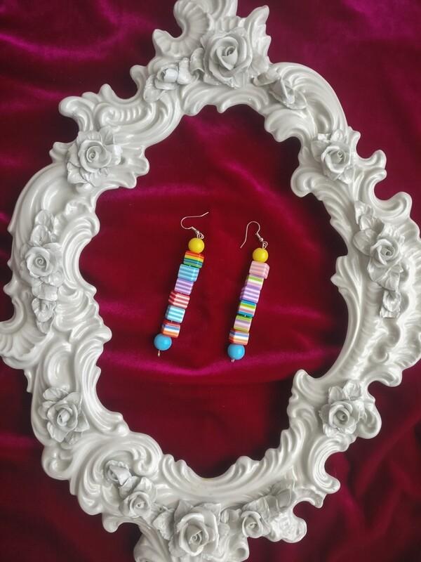 Color bar earrings
