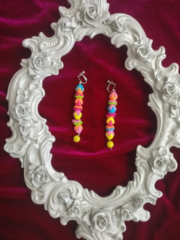 Color balls earring