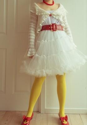 White knit coat S/XS