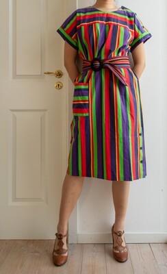 70s cotton dress L