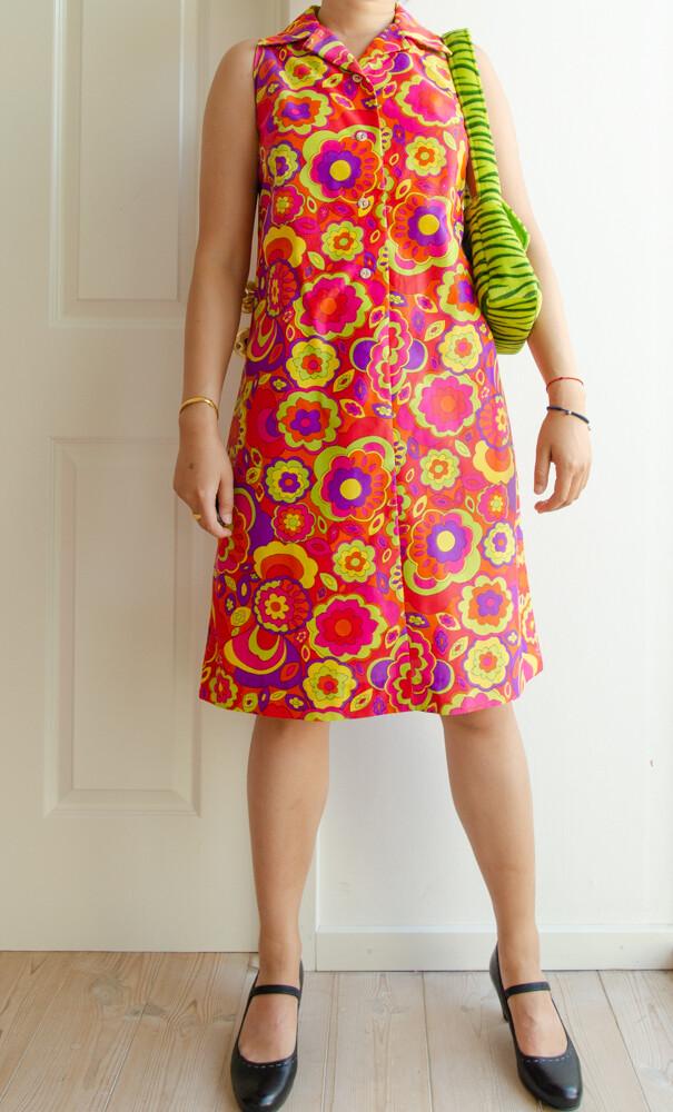 70s retro dress M
