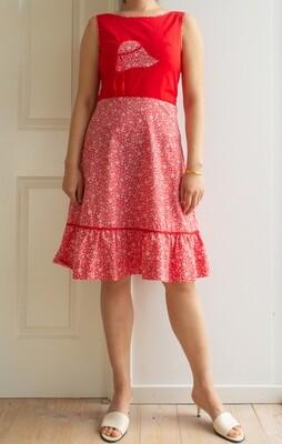 Red hat cute dress XS/S