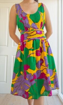 Colorful cotton summer dress M