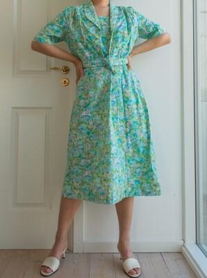Vintage cotton dress set L