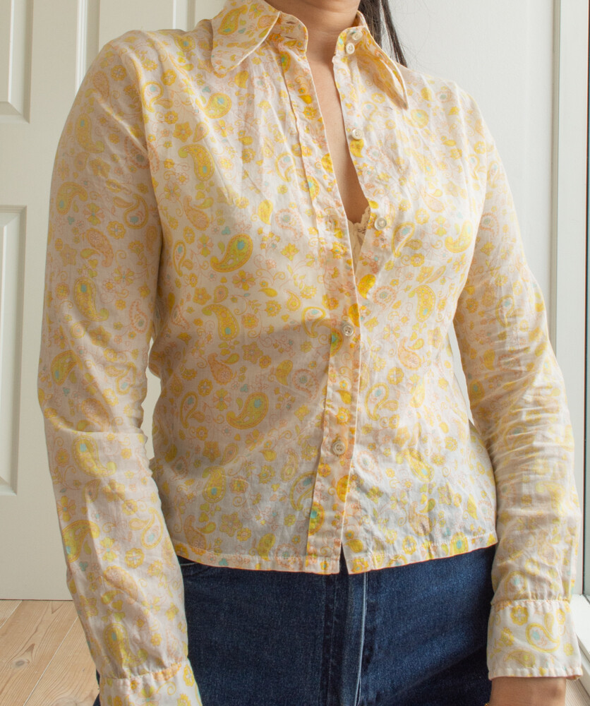 70s style blouse S