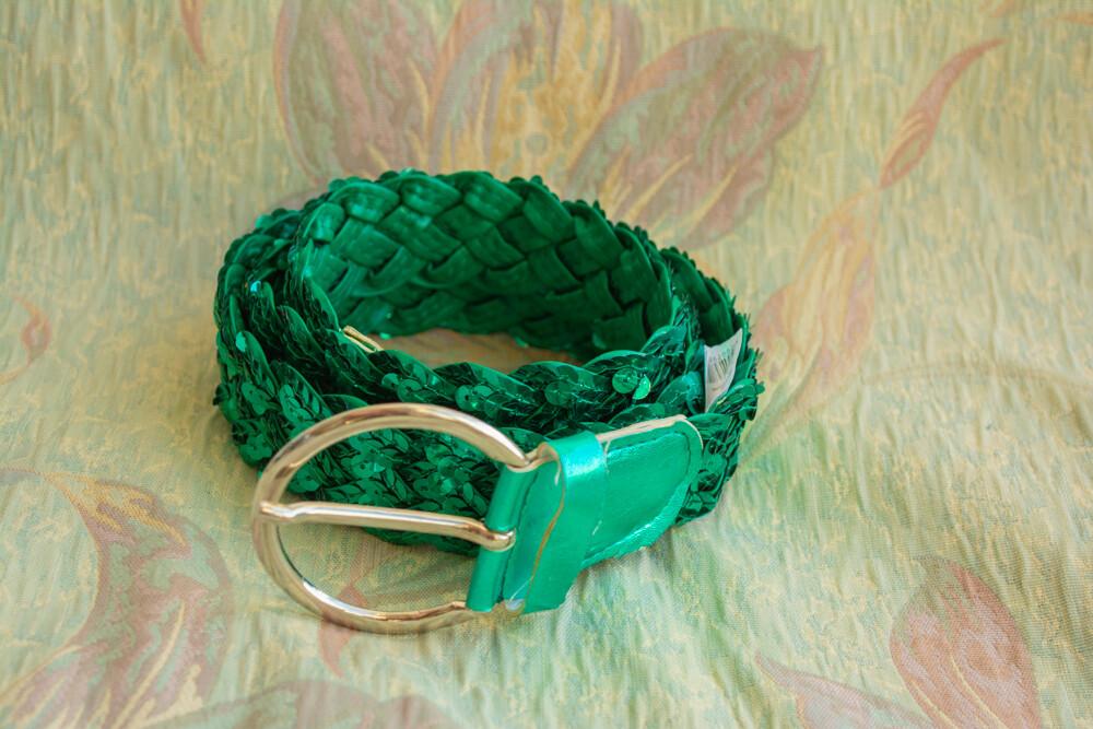 Glitter green belt
