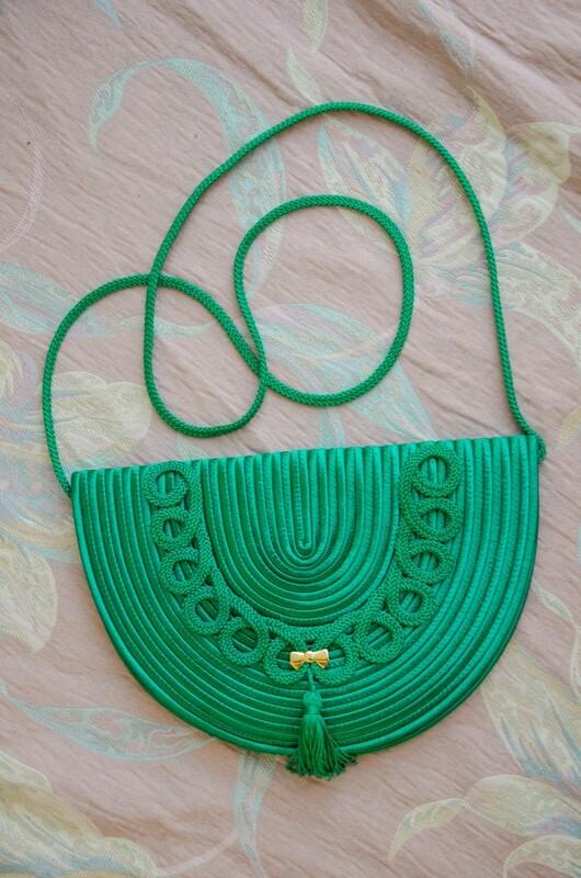 Nina Ricci 80s dark green bag