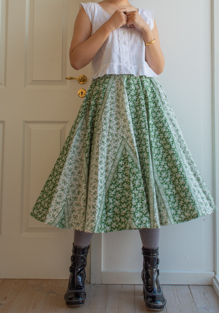 RV handmade cotton skirt M
