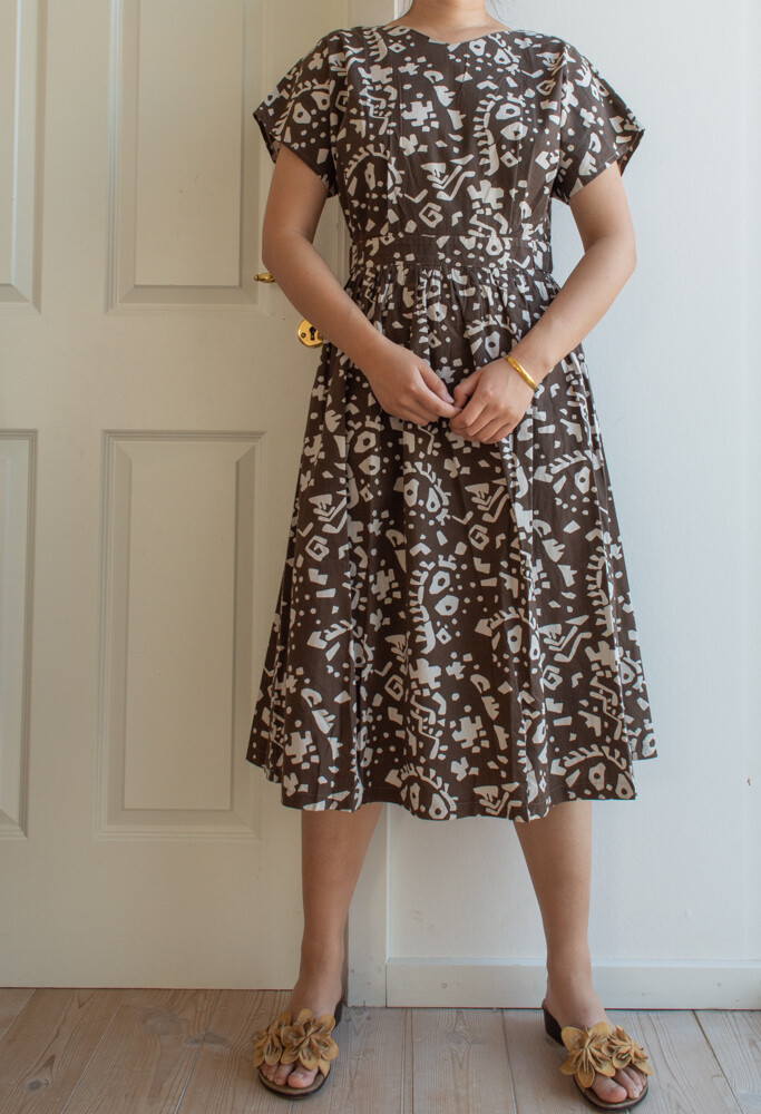 Brown cotton dress M/S