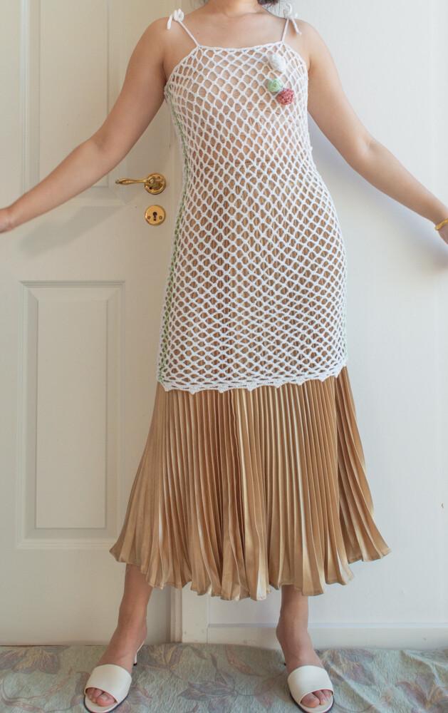 Retro net dress One size