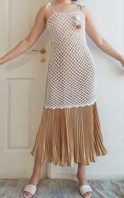 Retro net dress One size