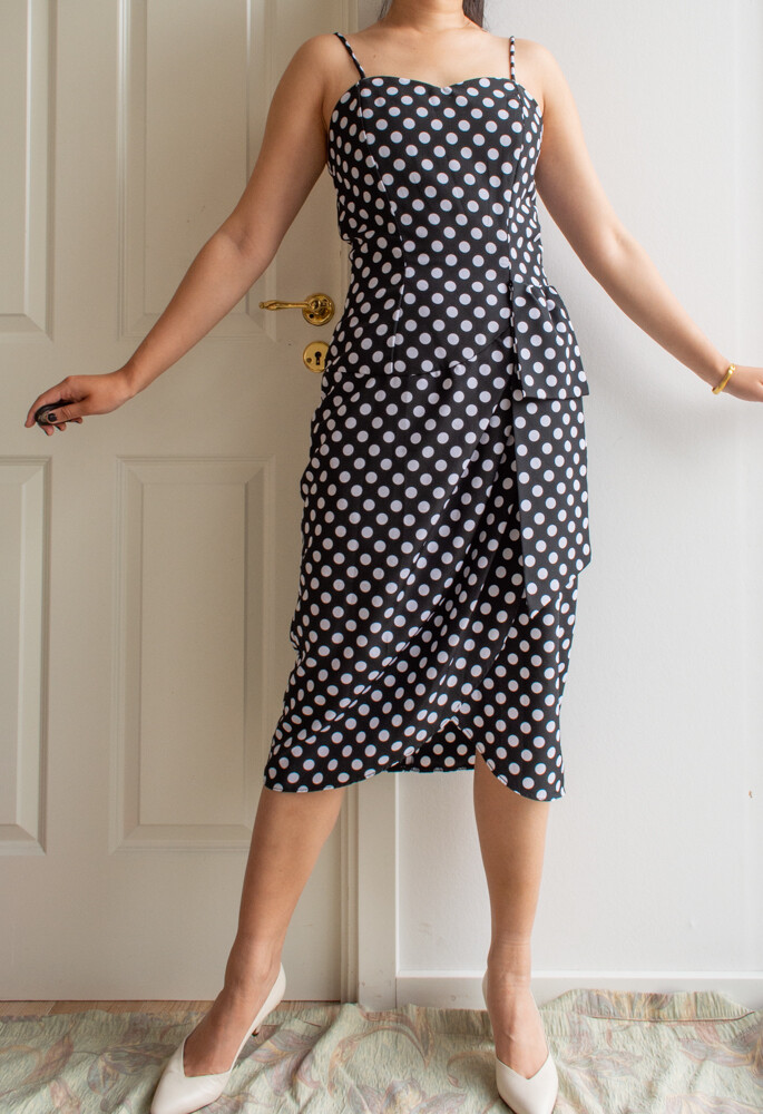 Polka dots dress M