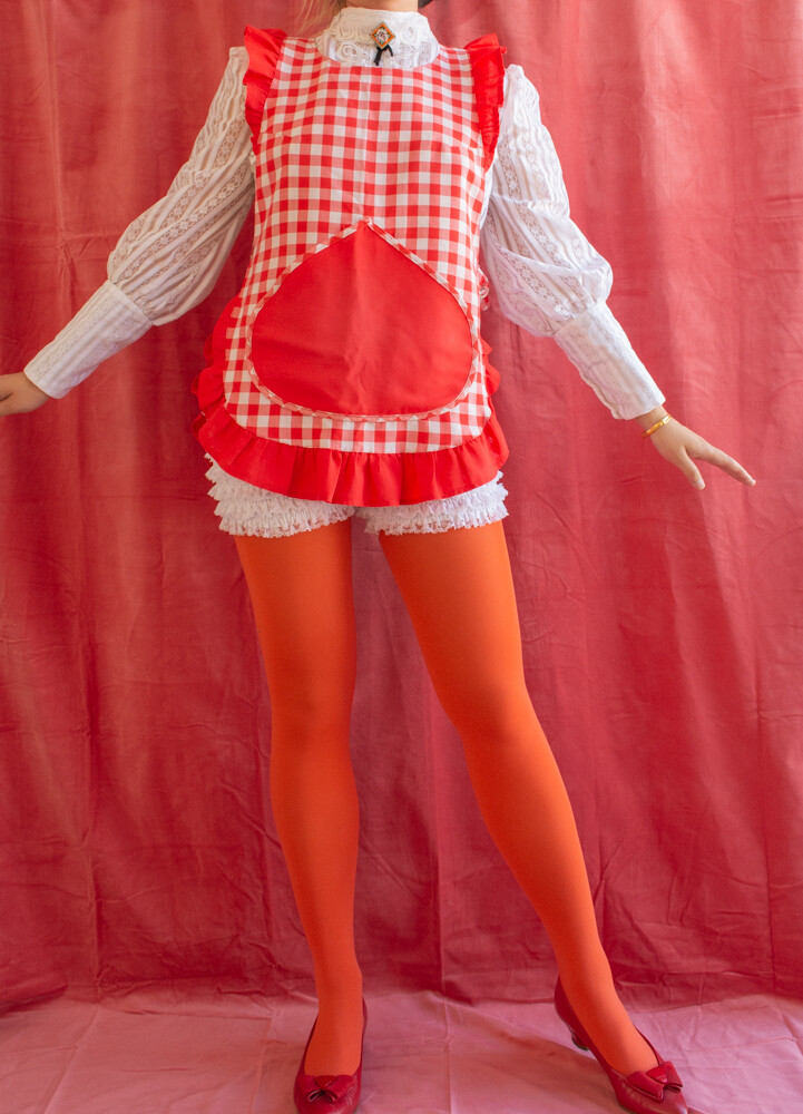 Retro red apron one size