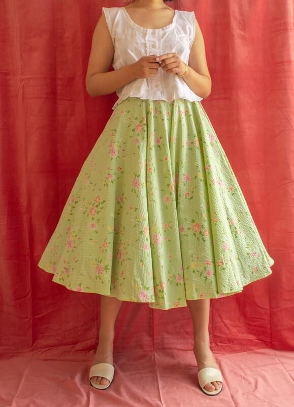 RV handmade Full-circle skirt S