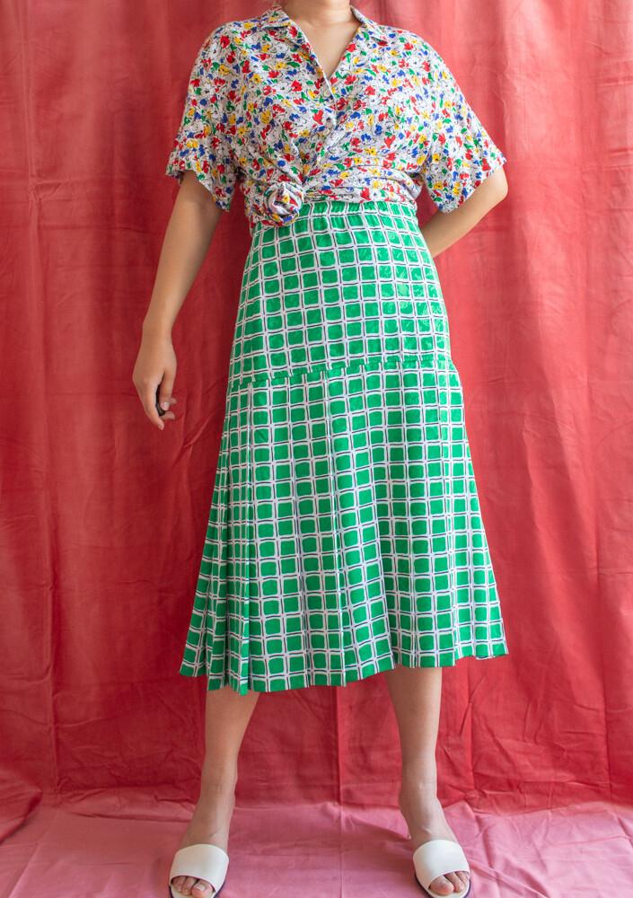 Retro green skirt L/XL