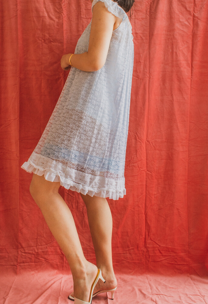 Blue night dress