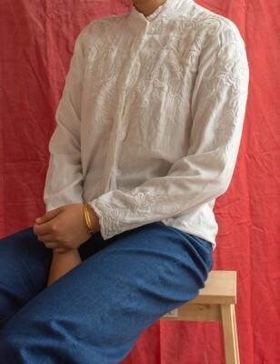 Viscose retro blouse M