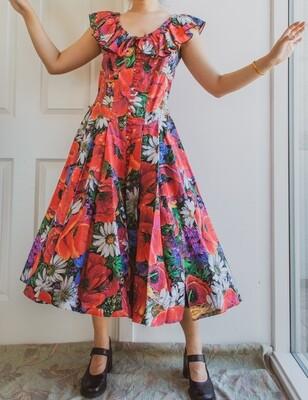 Wild Poppy dress L/M