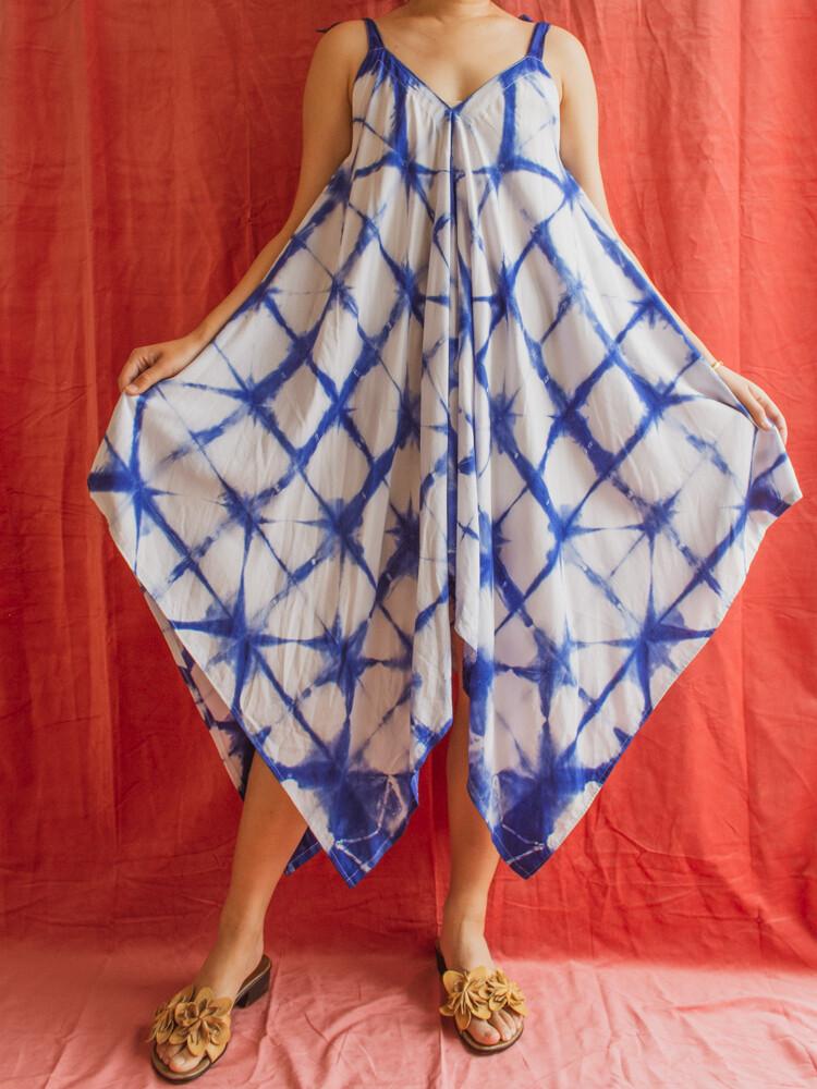 Blue summer dress one size