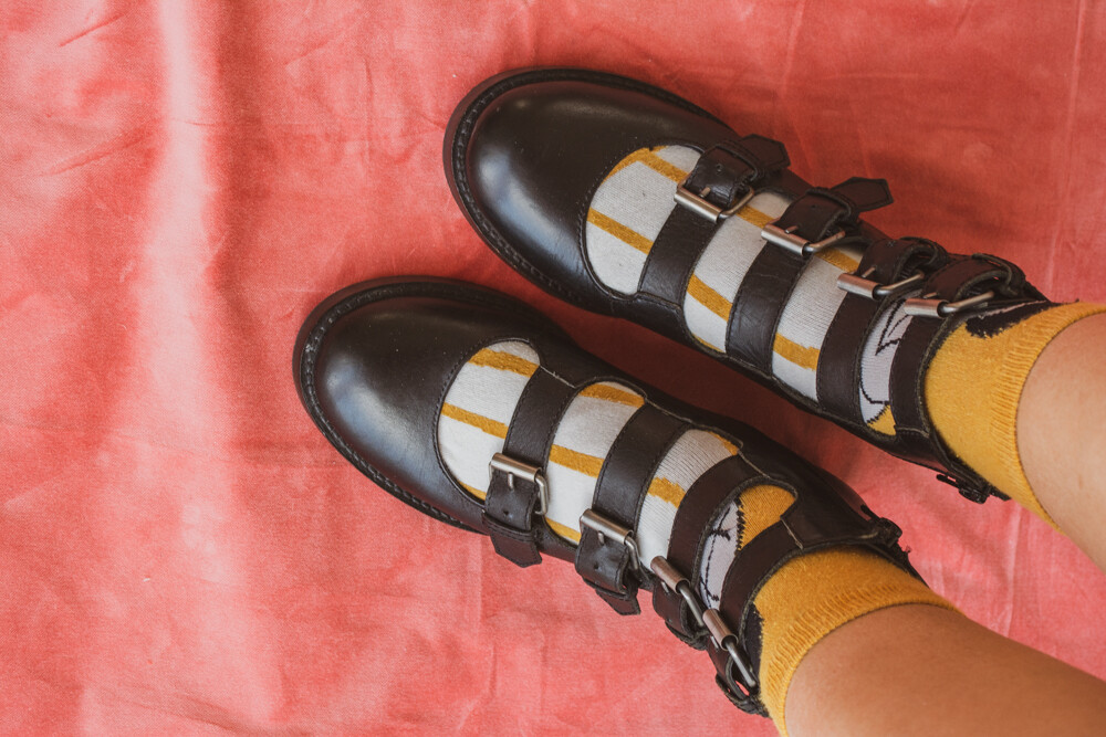 Black buckle shoes 36.5/37