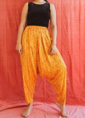Golden flower pants S