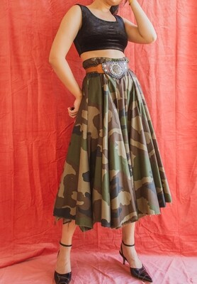 Camouflage skirt L