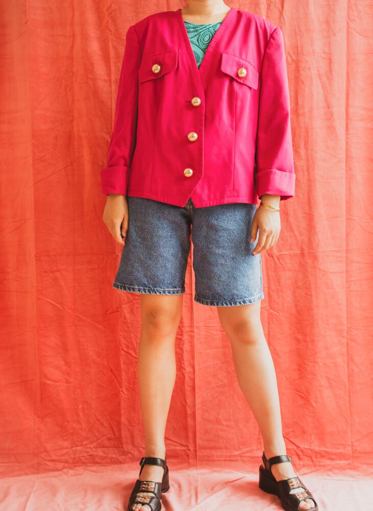 Pink retro blazer L/XL