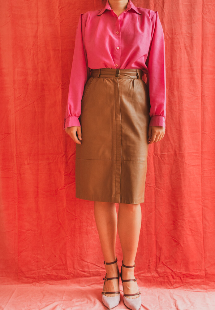 Leather skirt S/M