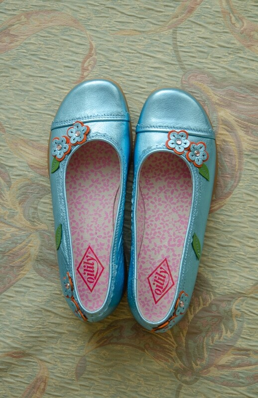 Glittery blue Oilily shoes