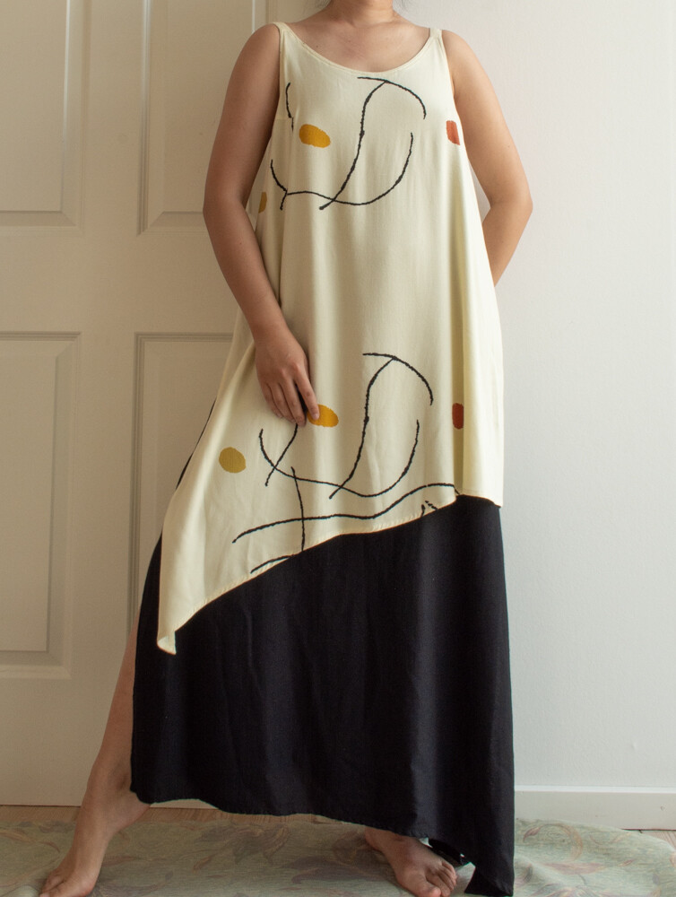 Artist cream white dress M/L