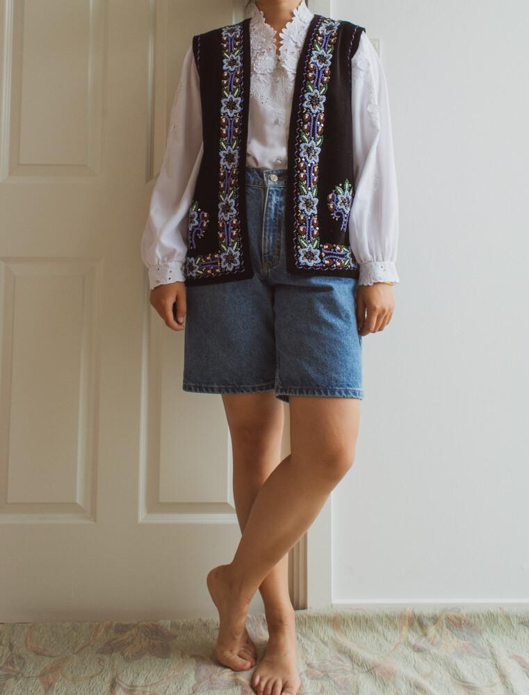 Exotic velvet vest