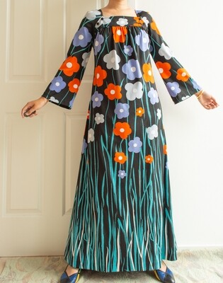 Flower maxi dress M/L
