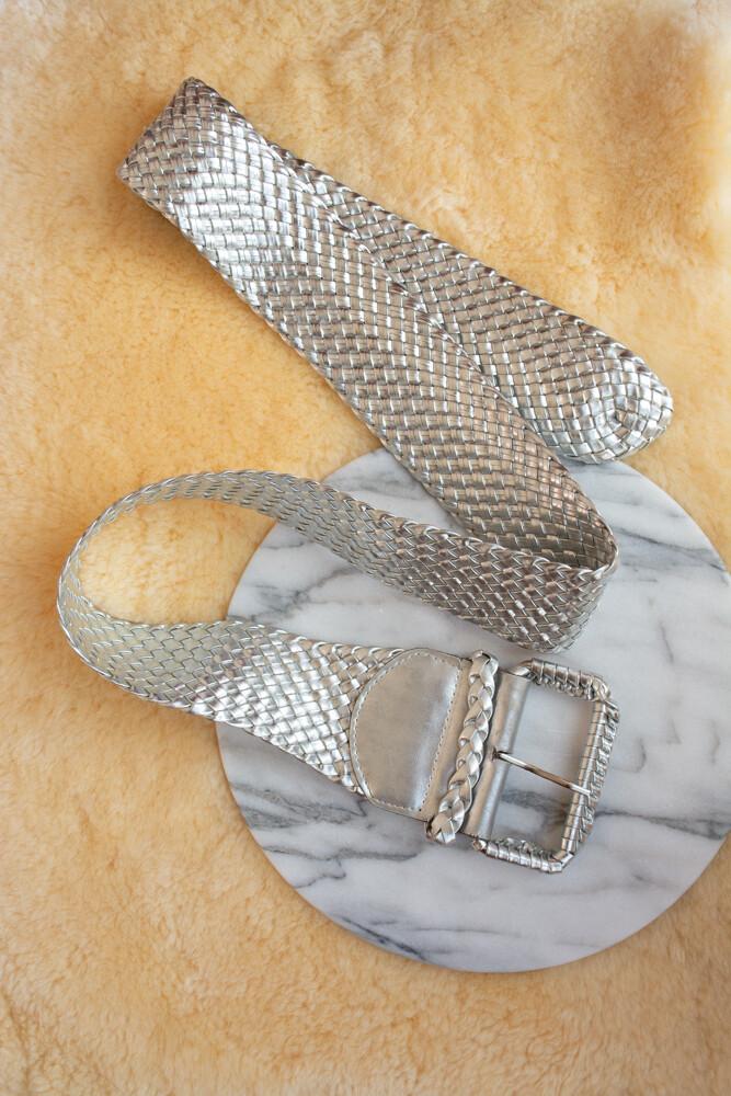 Silver wide belt
